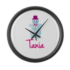 Tania the snow woman Large Wall Clock