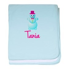 Tania the snow woman baby blanket