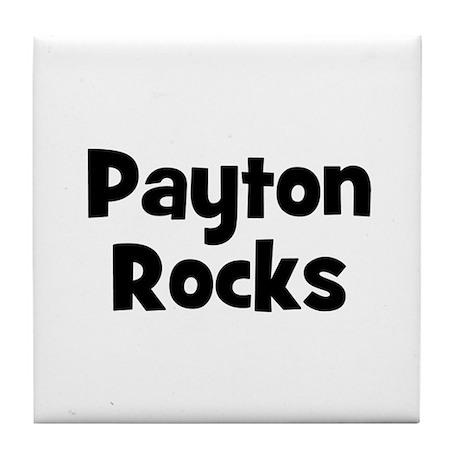 Payton Rocks Tile Coaster