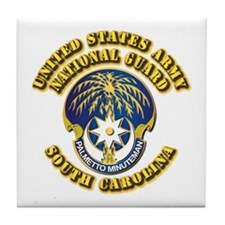 Army National Guard - South Carolina Tile Coaster