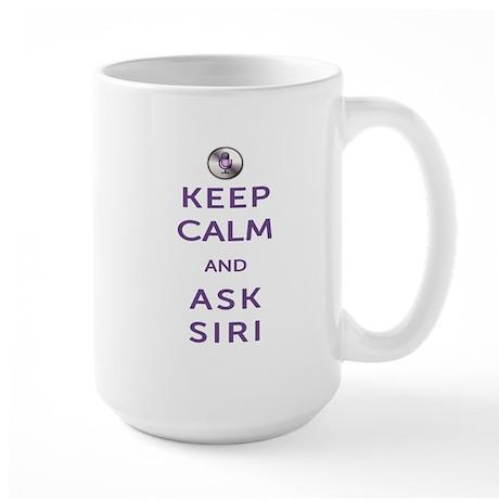 Keep Calm and Ask Siri Large Mug
