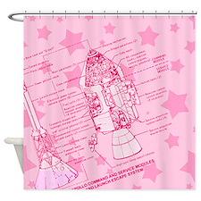 Cute Apollo rocket Shower Curtain