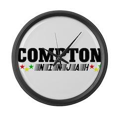 COMPTON NINJAH STARR Large Wall Clock