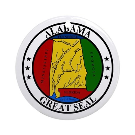 Seal of Alabama Ornament (Round)