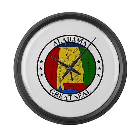 Seal of Alabama Large Wall Clock