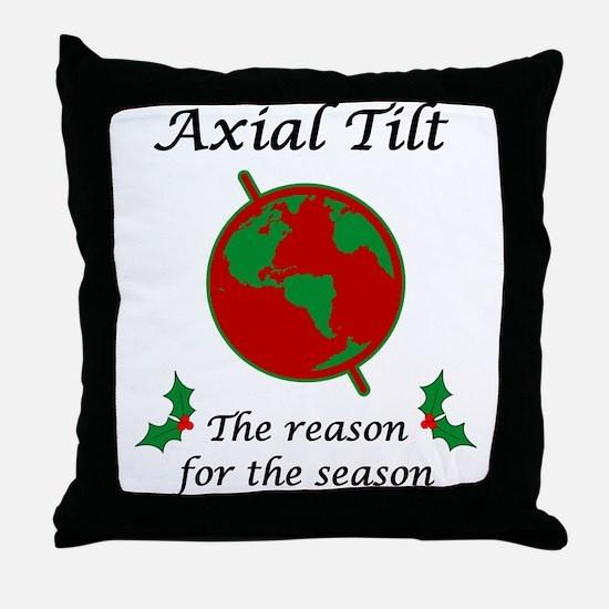 Axial Tilt Reason Season Throw Pillow