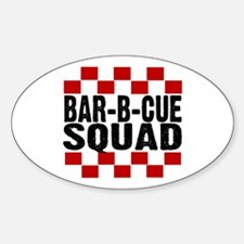 BBQ SQUAD Oval Decal