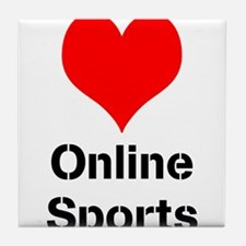 Heart Online Sports Tile Coaster