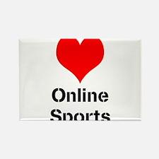 Heart Online Sports Rectangle Magnet