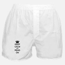 Keep Calm and Read On Boxer Shorts