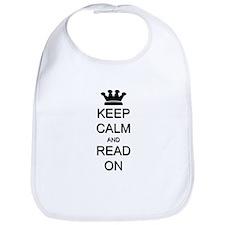 Keep Calm and Read On Bib