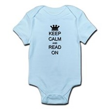 Keep Calm and Read On Infant Bodysuit