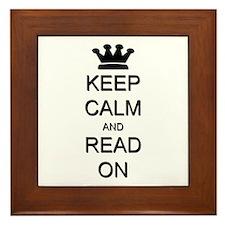 Keep Calm and Read On Framed Tile