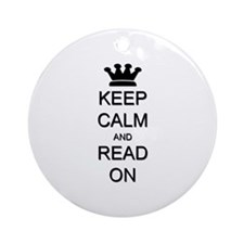 Keep Calm and Read On Ornament (Round)