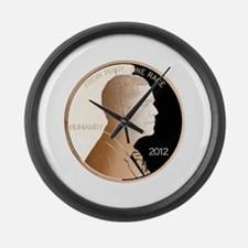 Obama Humanity Penny Large Wall Clock