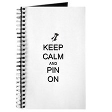 Keep Calm and Pin On Journal