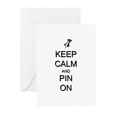 Keep Calm and Pin On Greeting Cards (Pk of 10)