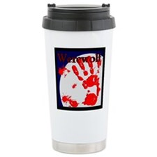 Werewolf Shape Shifter Logo Travel Mug