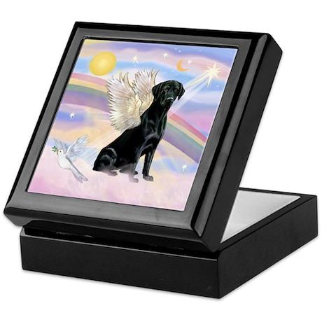 Black Lab Angel Keepsake Box