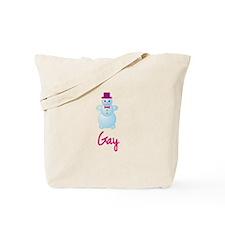Gay the snow woman Tote Bag