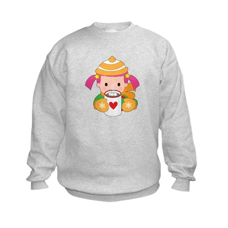 Child and Hot Chocolate Kids Sweatshirt