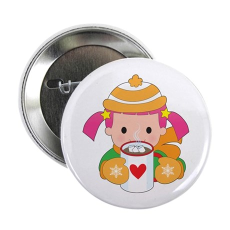 """Child and Hot Chocolate 2.25"""" Button (100 pack)"""