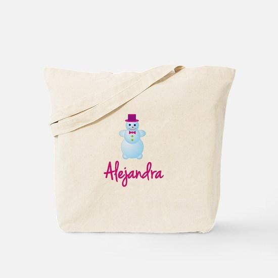 Alejandra the snow woman Tote Bag