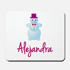Alejandra the snow woman Mousepad