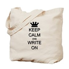 Keep Calm and Write On Tote Bag