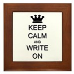 Keep Calm and Write On Framed Tile