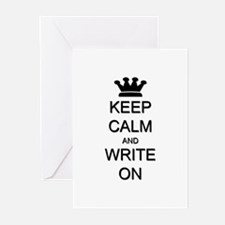 Keep Calm and Write On Greeting Cards (Pk of 20)