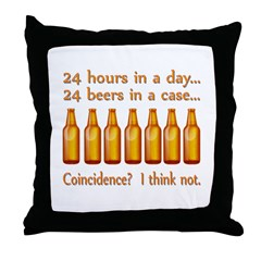 24 Beers Throw Pillow