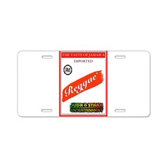 STRIPE STARR Aluminum License Plate