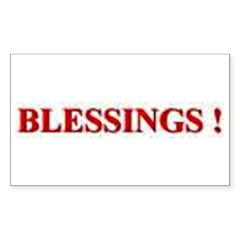 BLESSINGS Sticker (Rectangle 10 pk)