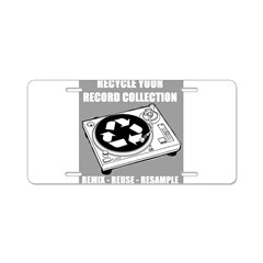 DJ'S RECYCLE Aluminum License Plate