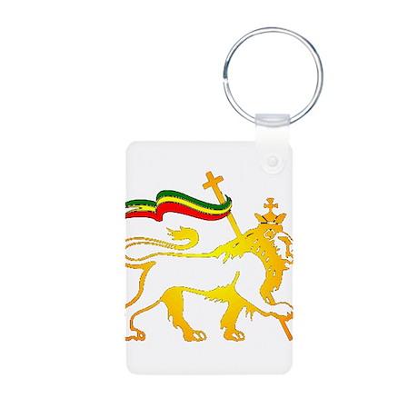 KING OF KINGZ LION Aluminum Photo Keychain