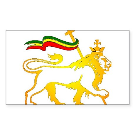 KING OF KINGZ LION Sticker (Rectangle 10 pk)