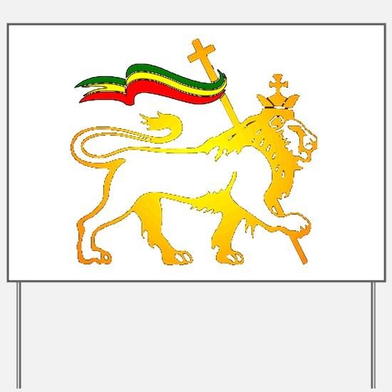 KING OF KINGZ LION Yard Sign
