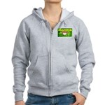 THE GREEN MONKEY BRING DAT B Women's Zip Hoodie