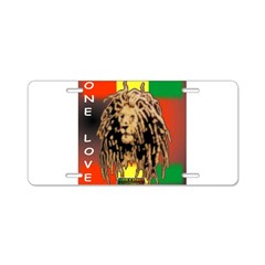 ONE LOVE LION Aluminum License Plate