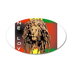 ONE LOVE LION 22x14 Oval Wall Peel