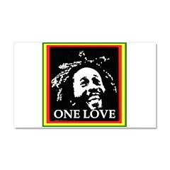 ONE LOVE Car Magnet 20 x 12