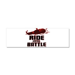 ride into battle Car Magnet 10 x 3