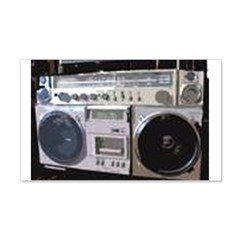 BOOM BOX 22x14 Wall Peel
