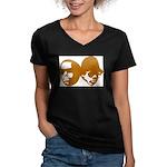 OLD SKOOL Women's V-Neck Dark T-Shirt
