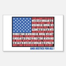 USA Eagle-Flag Rectangle Decal