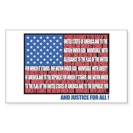 USA Eagle-Flag Rectangle Sticker