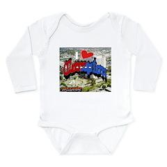 I LOVE COMPTON Long Sleeve Infant Bodysuit