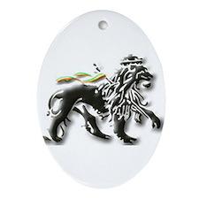 Funny Lion judah Ornament (Oval)
