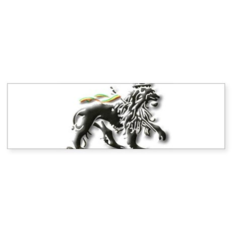 JAH LION OF JUDAH. Bumper Sticker